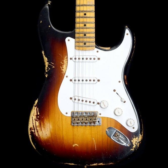 Fender Custom Shop 60th Anniversary '54 Heavy Relic Stratocaster Two Tone Sunburst, Pre-Owned