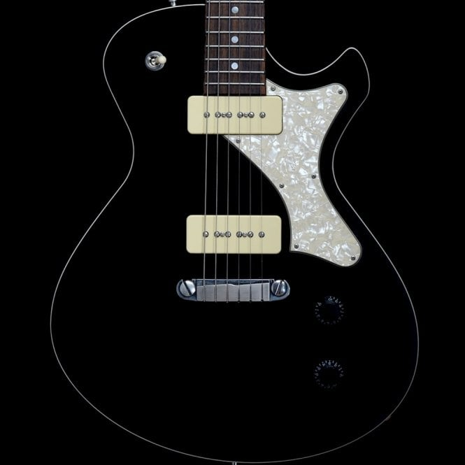 Frank Hartung Junico Stoptail Electric Guitar with Haussel P90s in Gloss Black, Pre-Owned
