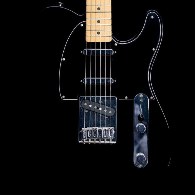 Fender Deluxe Blackout Telecaster, Black with Maple Neck