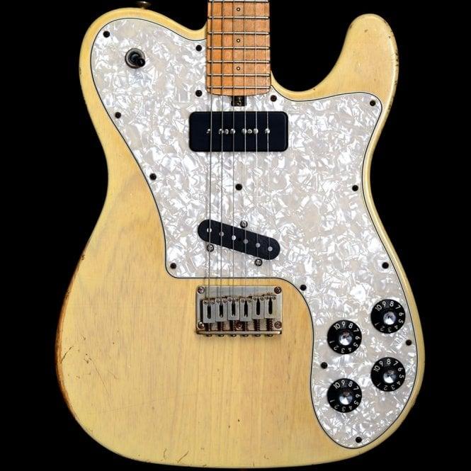 Friedman Amplification Vintage-T Ash Heavy Relic Maple Neck Electric Guitar, Vintage Blonde