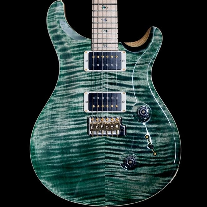 PRS Custom 24 10-Top Swamp Ash, Faded Evergreen, Maple Neck