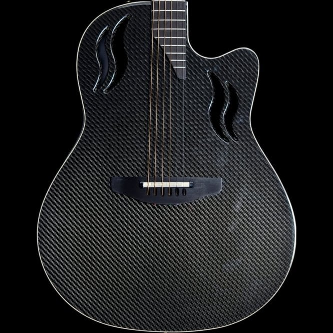 Ovation Adamas Q-597 Electro-Acoustic Guitar in Trans Black, 2004 Model