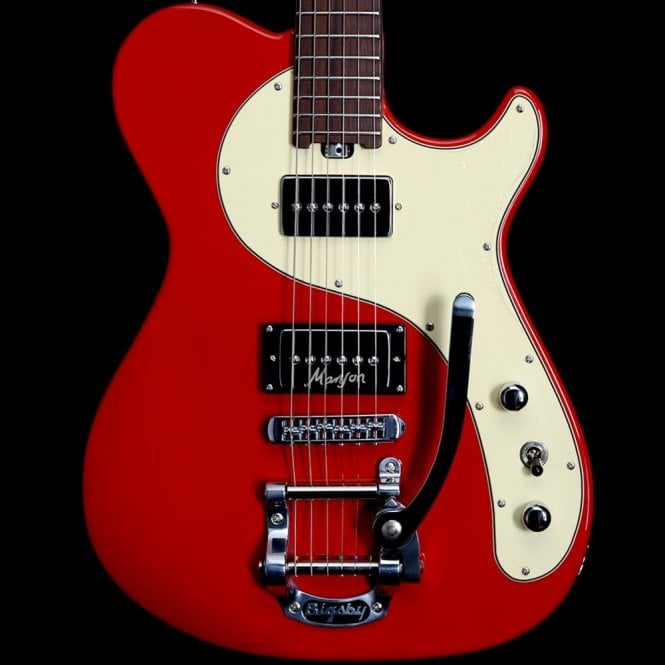 Manson MA-2B Electric Guitar, Very Light Red Finish, Pre-Owned