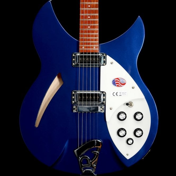 Rickenbacker 330/6 Semi-Hollow Electric Guitar, Midnight Blue, #17-29792