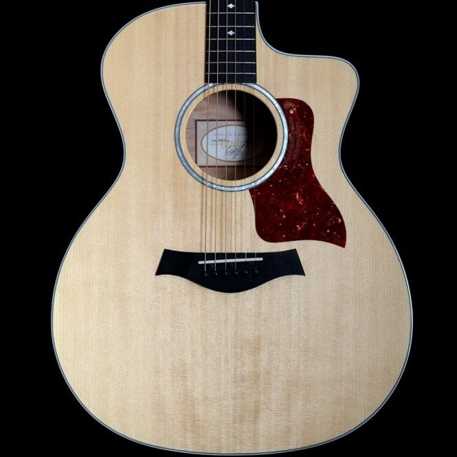 Taylor 214ce DLX QM Electro - Acoustic Guitar, Quilted Maple Back and Sides