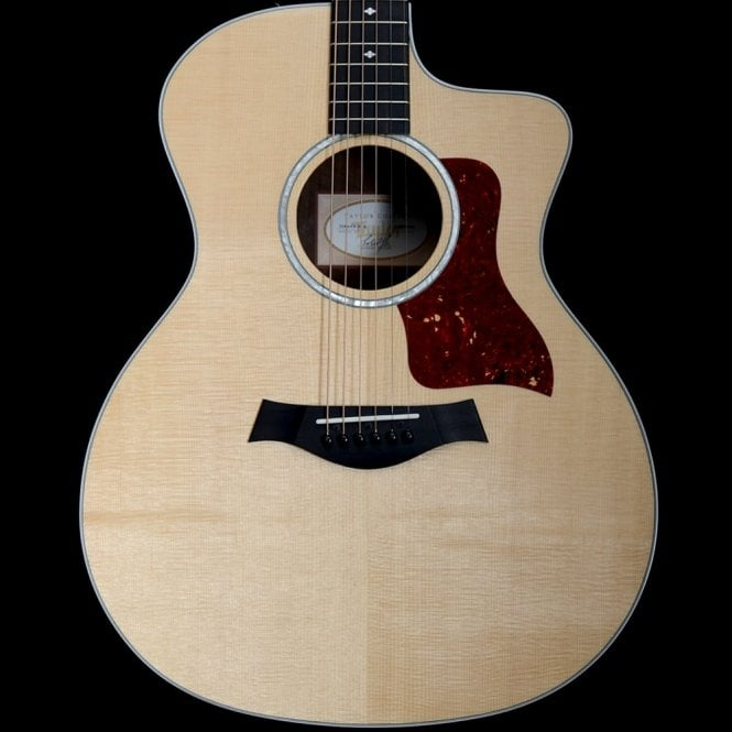 Taylor 214ce-CF DLX Acoustic Guitar, Copafera Back and Sides