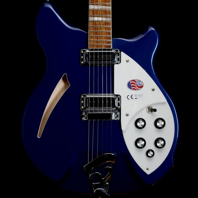 Rickenbacker 360 6-String Semi-Acoustic Electric Guitar in Midnight Blue, 2017 Model - #33799