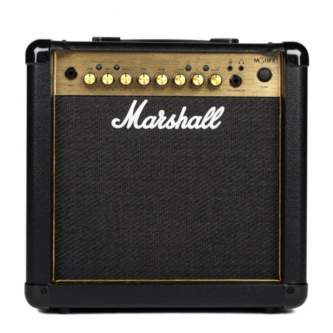 marshall mg15gfx 15w combo guitar amplifier gold amps from sound affects uk. Black Bedroom Furniture Sets. Home Design Ideas