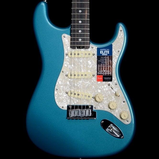 Fender American Elite Stratocaster, Ebony Fretboard, Ocean Turquoise