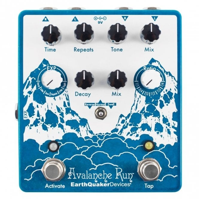 EarthQuaker Devices Avalanche Run V2 Stereo Reverb & Delay Pedal