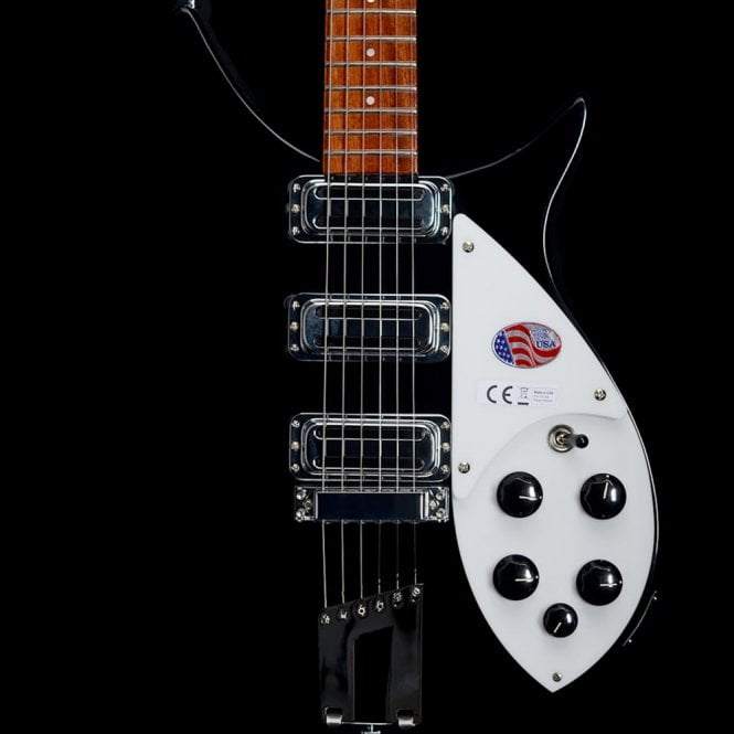 Rickenbacker 350V63 Liverpool Electric Guitar in Jetglo, 2017 Model