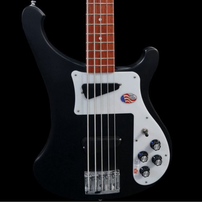 Rickenbacker 4003s5 Five String Electric Bass Guitar in Matte Black, Pre-Order