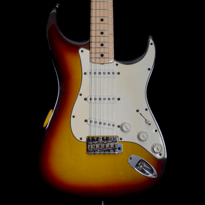 Fender Custom Shop '69 Closet Classic Stratocaster Relic Electric Guitar in 2-Tone Sunburst, Pre-Owned
