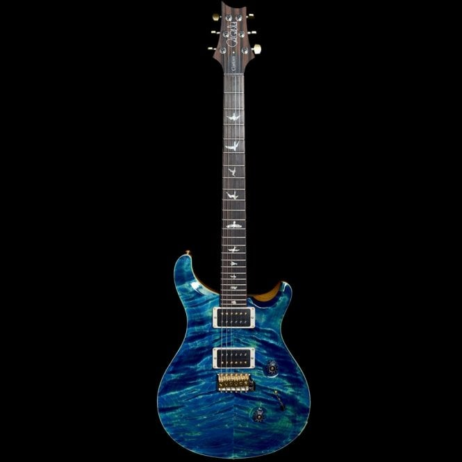 PRS 2018 Model Custom 24 10-Top with Stained Maple Neck, River Blue