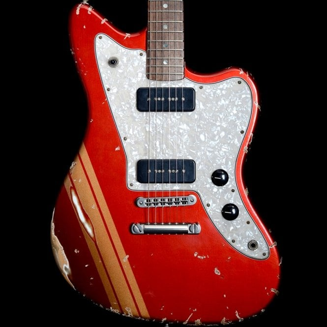 Fano 2012 Alt De Facto JM6 P90, Heavy Distress Candy Apple Red