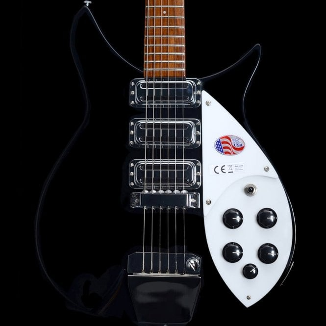 Rickenbacker 2018 325c64 Short Scale John Lennon Electric Guitar, Jetglo #18-07721