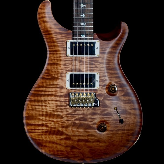 PRS Custom 24 Wood Library 2018 Model Quilted 10-Top, Satin Copper Head Burst, #249688