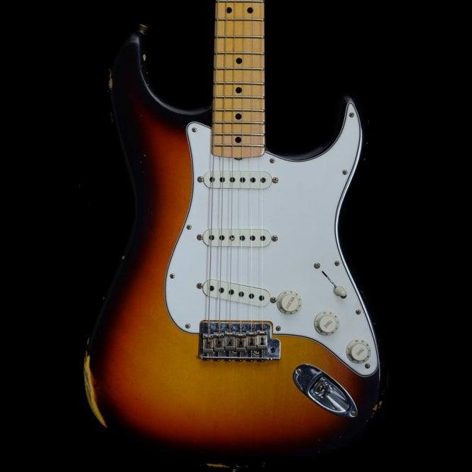 Fender Custom Shop 2018 Model Time Machine 1968 Relic Stratocaster, Faded 3-Colour Sunburst