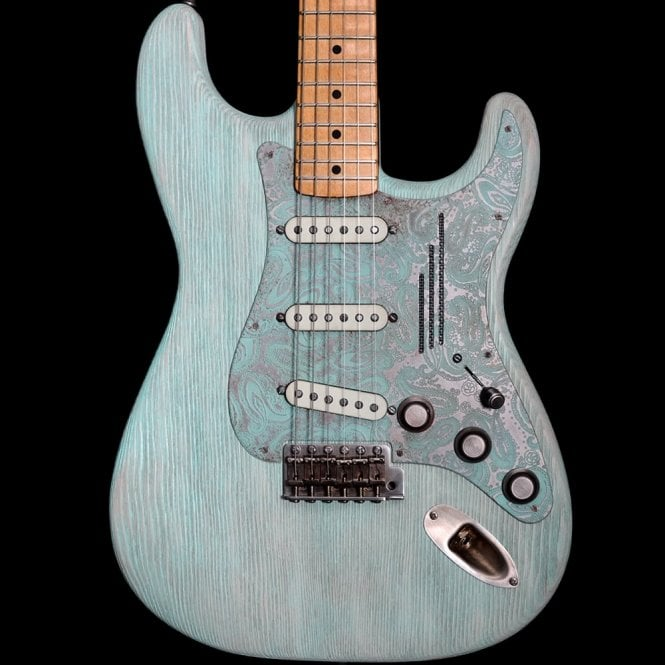 James Trussart Steelguard-O-Matic Electric Guitar, Blue Paisley #18015