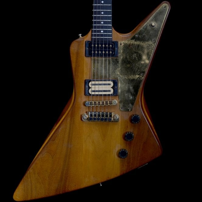 Gibson 1979 Vintage Explorer E2 Electric Guitar, Natural Finish w/ DiMarzio X2N Humbucker, Pre-Owned