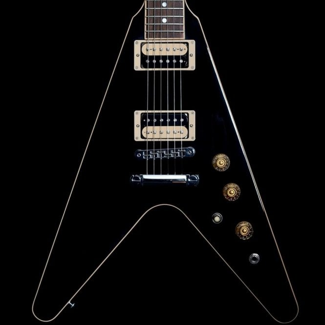 Gibson 2016 High Performance Flying V With Manual Grover Tuners, Black  Pre-Owned