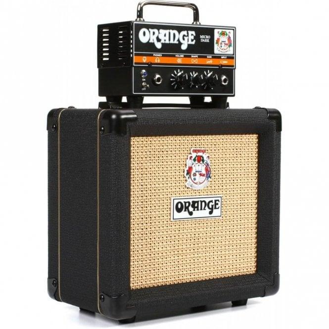 Orange Micro Dark Valve Hybrid Guitar Amp Head, Cabinet & Bag Bundle