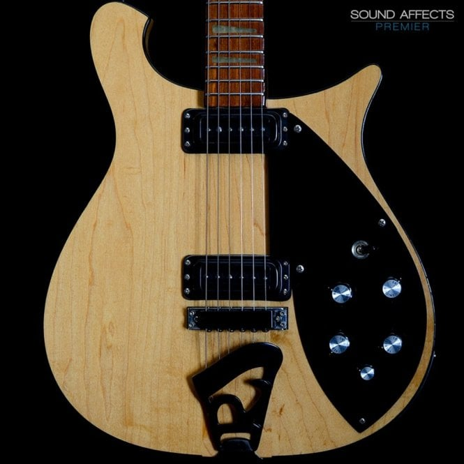 Rickenbacker 1997 620/6 Mapleglo Electric Guitar, Rare 'Blackout' Model, Pre-Owned