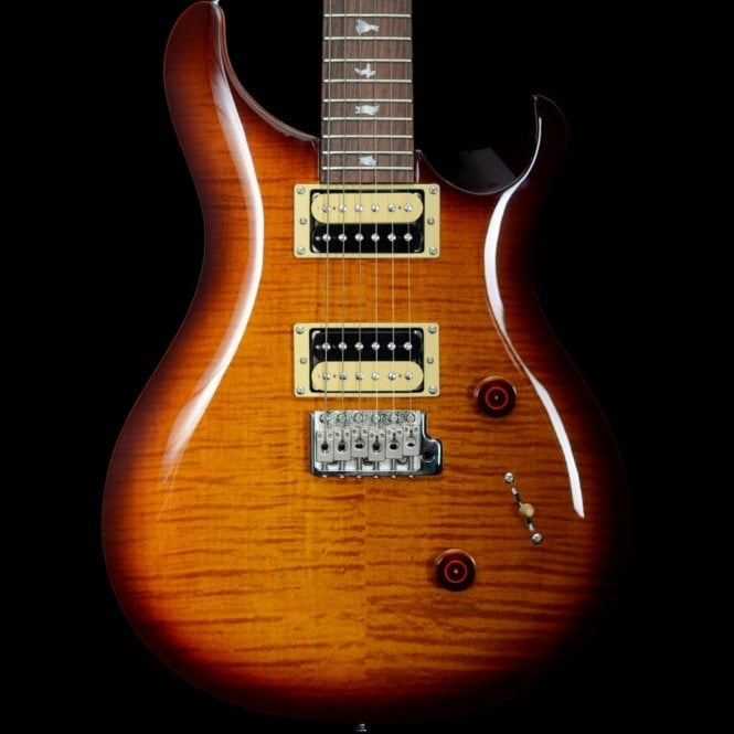 PRS SE Custom 24 Electric Guitar in Tobacco Burst, 2017 Model