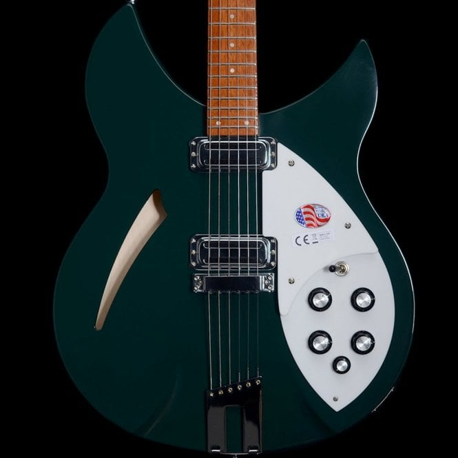 Rickenbacker 330/6 Electric Guitar, Limited Edition British Racing Green, B-Stock