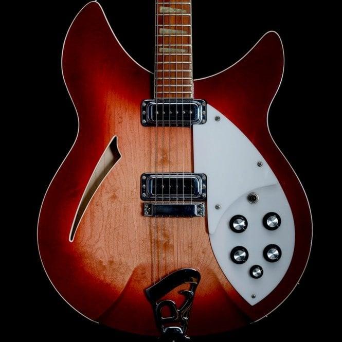 Rickenbacker 360/6WB Semi-Hollow Electric Guitar in Fireglo, 1988 Model
