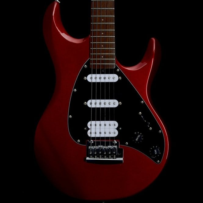 Music Man Sterling by Music Man Sub Series Silo3, Red HSS Electric Guitar