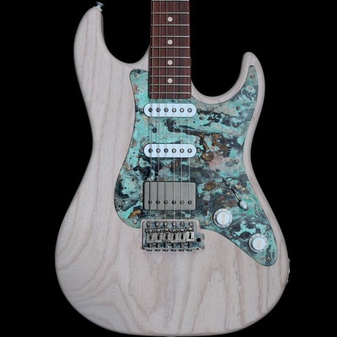 Patrick James Eggle 96 Swamp Ash with Patinated Pickguard and Roasted Maple Neck, Rosewood Fingerboard #16018, White Wash
