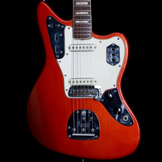 Fender Original 1968 Jaguar in Candy Apple Red with Matching Headstock + Mute, Pre Owned