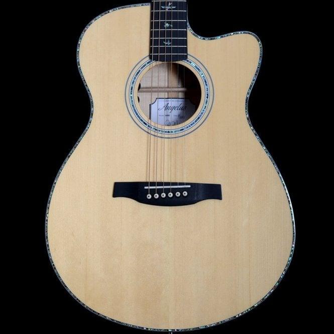 PRS SE A50E Angelus Acoustic Guitar in Black Gold w/ Cutaway, Ex-Display