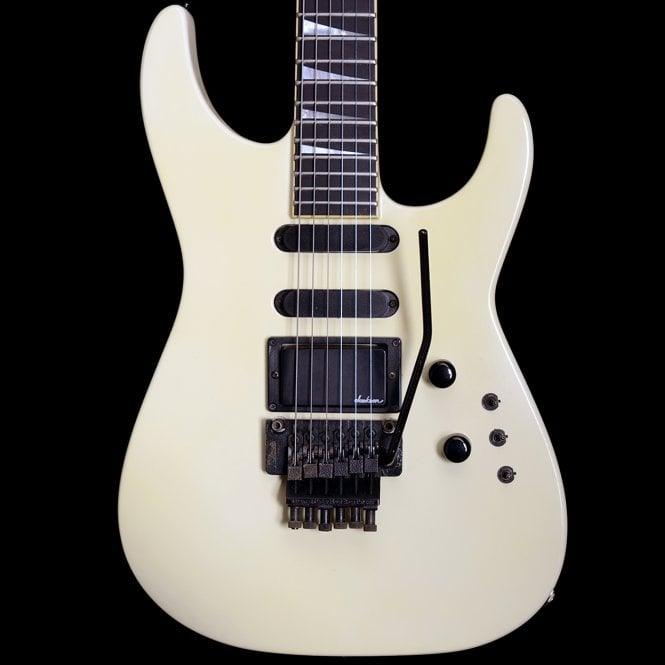 Jackson 1989 USA Soloist FR Electric Guitar in Ivory White, Pre-Owned