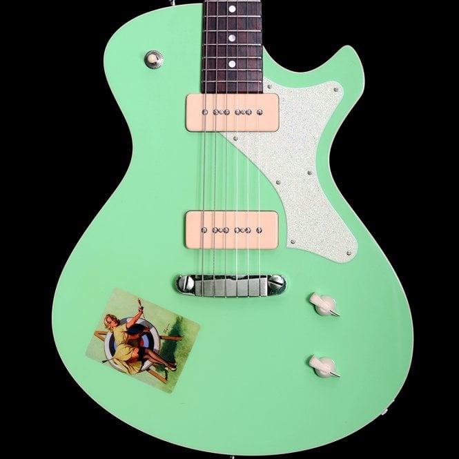 "Frank Hartung 2015 Junico Custom ""Elvgren"" Singlecut Electric Guitar in Seafoam Green, Pre-Owned"