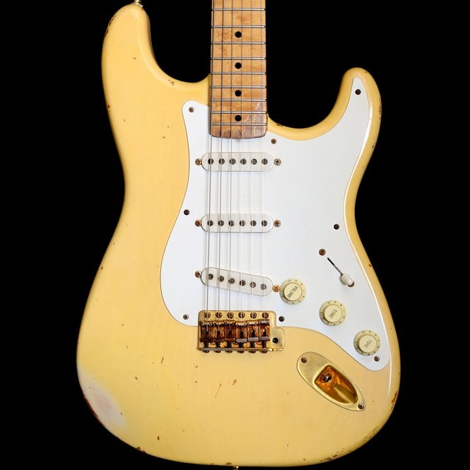 Fender Custom Shop Custom Shop 1997 Vince Cunetto Relic Mary Kaye Stratocaster, Blonde, Pre Owned