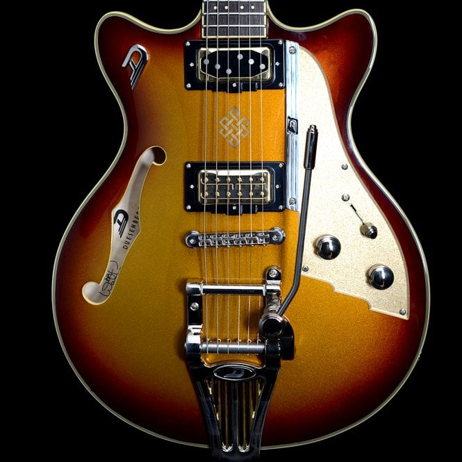 Duesenberg Joe Walsh Alliance Series Semi-Hollow Electric Guitar in Gold Burst, Pre-Owned