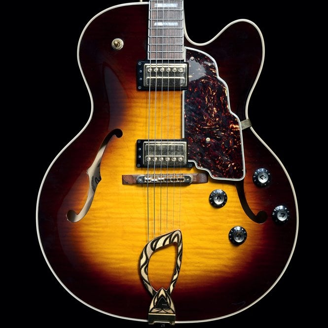 c. 2002 X-170 USA Manhattan Archtop Semi-Hollow Electric Guitar in Tobacco Sunburst, Pre Owned