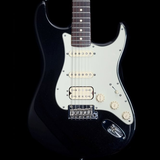 Fender American Deluxe HSS Stratocaster in Mystic Black with Personality Cards, Pre-Owned