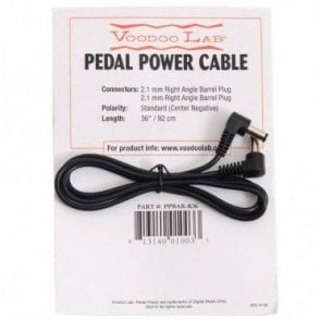 PPBAR-R36 2.1mm Right Angle Barrel 9V Power Cable