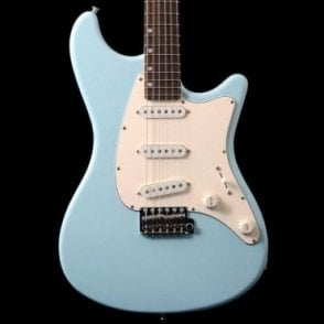 Ashburn SSS Guitar, Daphne Blue Maple Neck & Rosewood Fingerboard