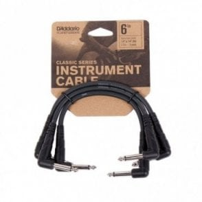 Planet Waves Classic Series Patch Cables 3 Pack - Right Angle (6 Inches)