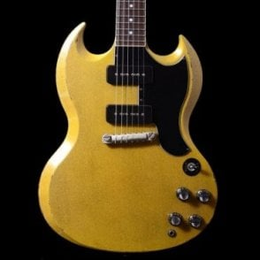 Rock N Roll Relics Townsend SG Dual P-90 Relic Guitar in TV Yellow