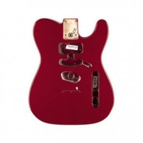 Replacement USA Alder Tele Body Modified Bridge Mount (Mystic Red)