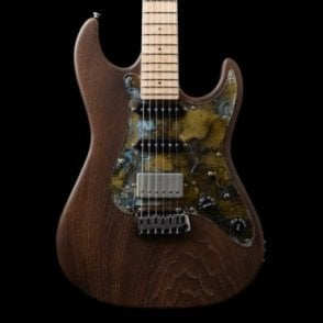 96 Swamp Ash with Patinated Pickguard, Bitter Chocolate Satin
