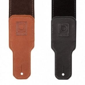 Black / Brown Premium Suede Guitar Strap (BSS-25)