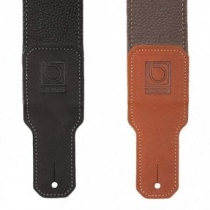 BSL-30 Black / Brown Premium Leather Guitar Strap