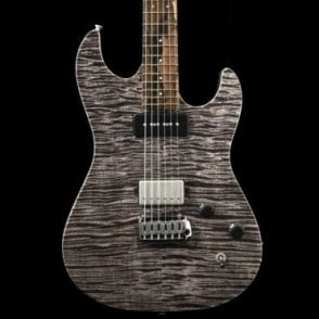 96 Drop Top, Master Grade Flame Maple Neck w/ Ziricote Fingerboard, Trans-Silver