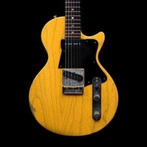 Alt De Facto SP6 Electric Guitar, Butterscotch Blonde, Medium Distress, Pre-Owned